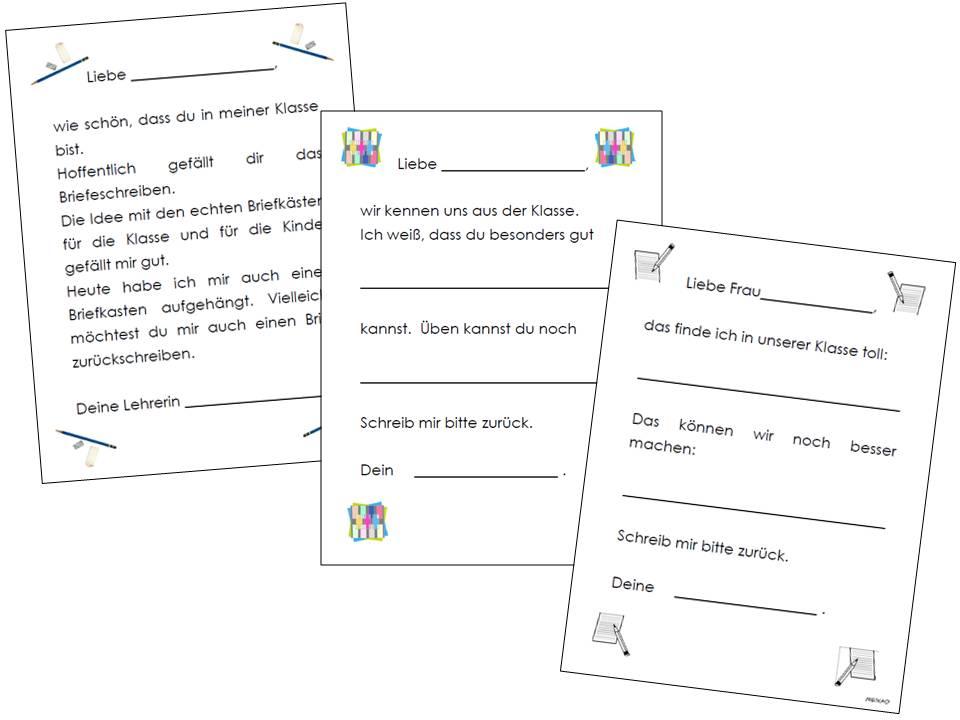 Briefe Schreiben Lernen 5 Klasse : Unterrichtsmaterial Übungsblätter für die grundschule
