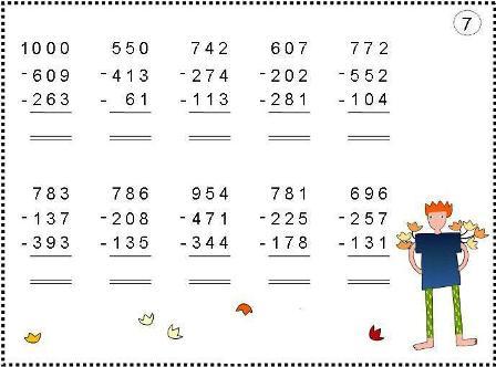 Zahlenraum bis 1000 Grundschule Klasse 3  Mathematik