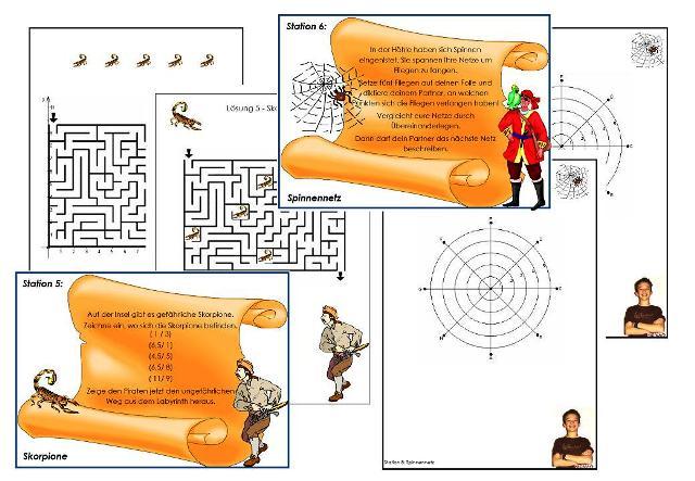 unterrichtsmaterial bungsbl tter f r die grundschule werkstatt piraten in koordinaten. Black Bedroom Furniture Sets. Home Design Ideas